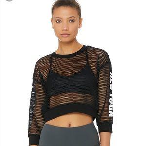 NWT Alo Yoga New York Mesh Pullover
